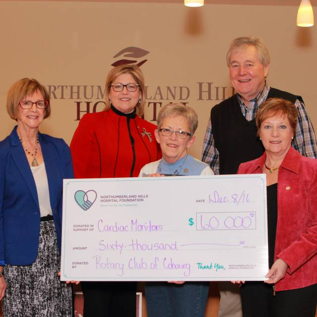 Rotary Club of Cobourg's Financial Commitment to NHH