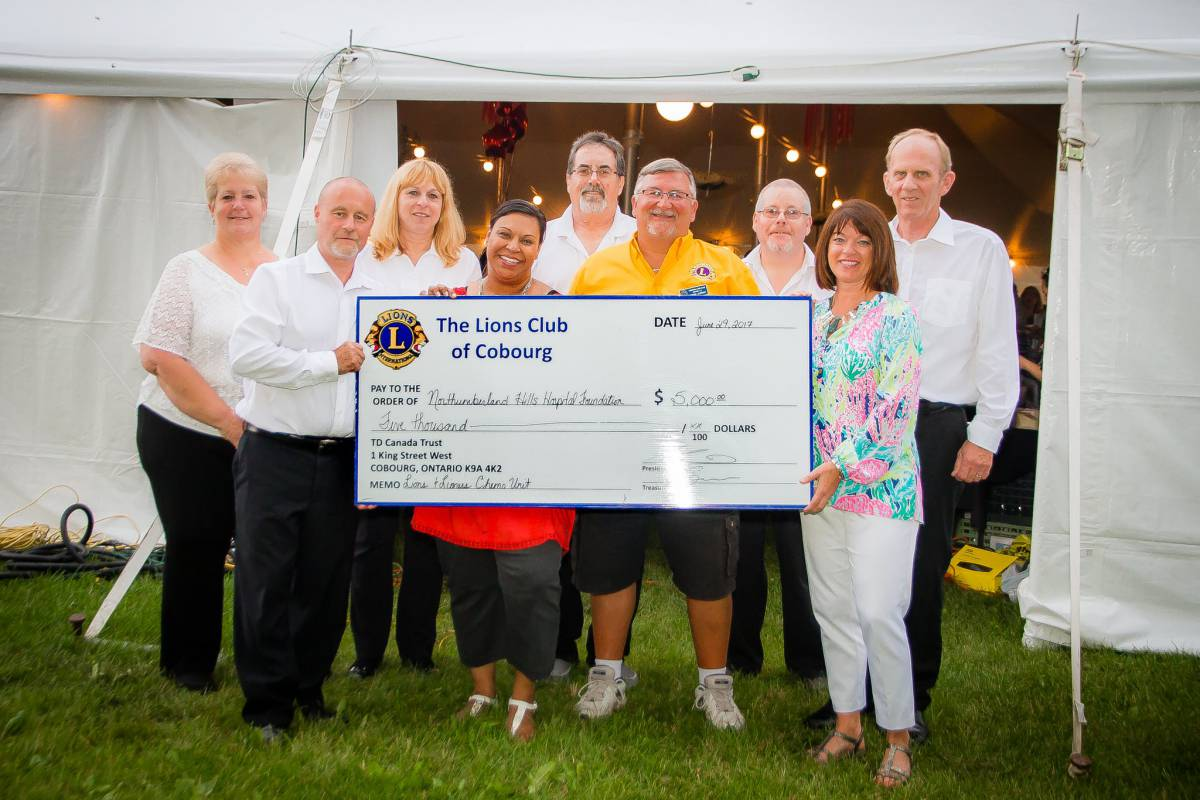 Lions Club of Cobourg Makes Significant Donation in Support of Local Cancer Care