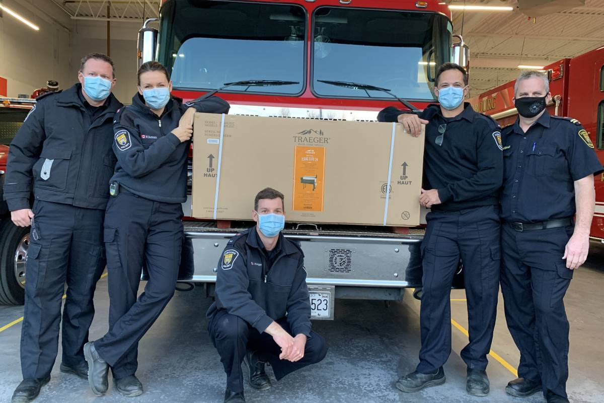 Cobourg Professional Firefighter Association Donates to NHH Foundation Online Auction